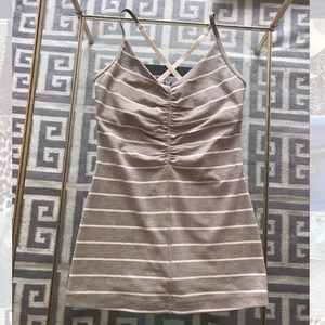 Lululemon striped crossback tank Sz. 2